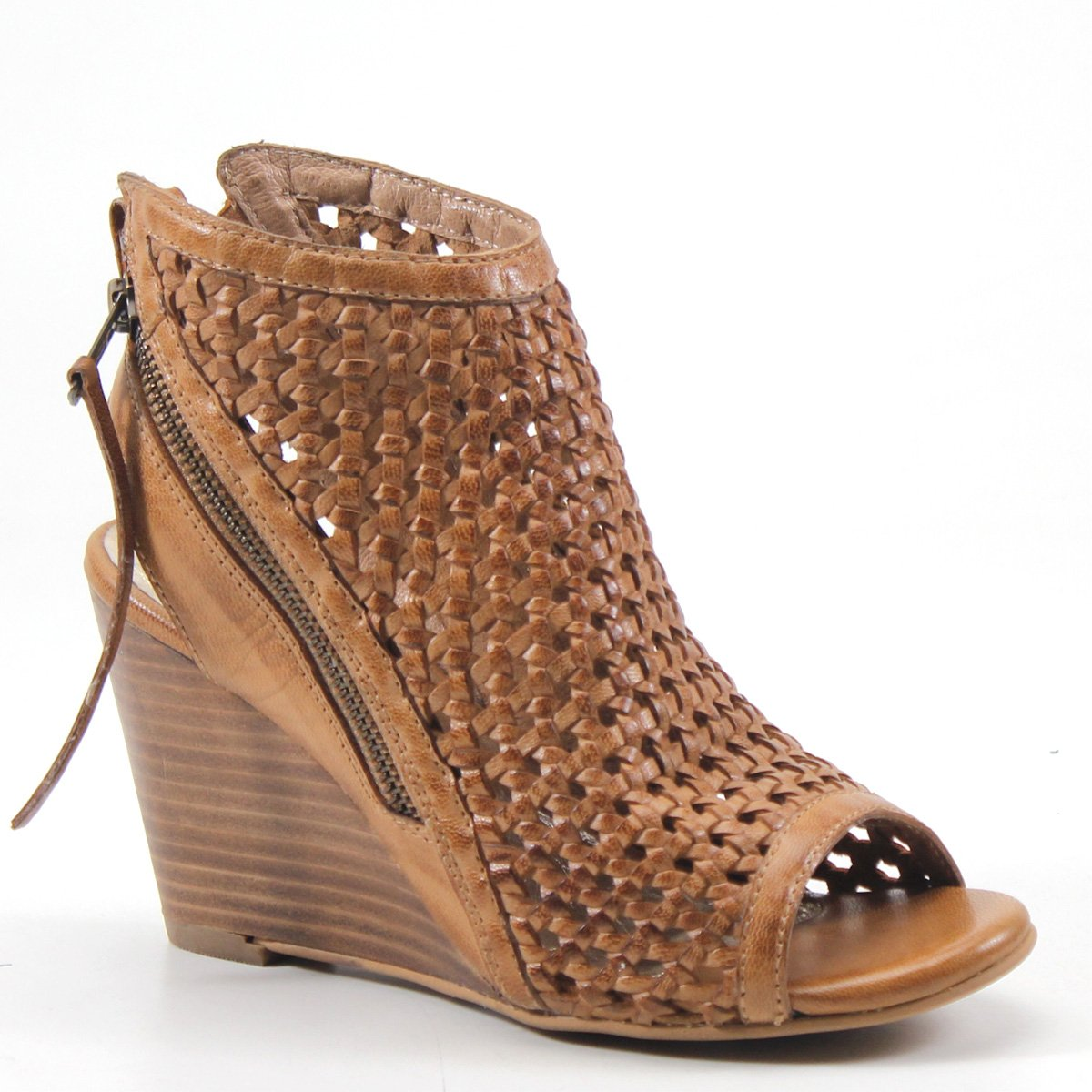 Diba True in Between Woven Leather Wedge B07C9BWQR4 7 B(M) US|Tan Woven Leather