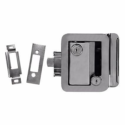 Ks Chrome Rv Entry Door Lock Handle Knob Deadbolt Key Camper Travel