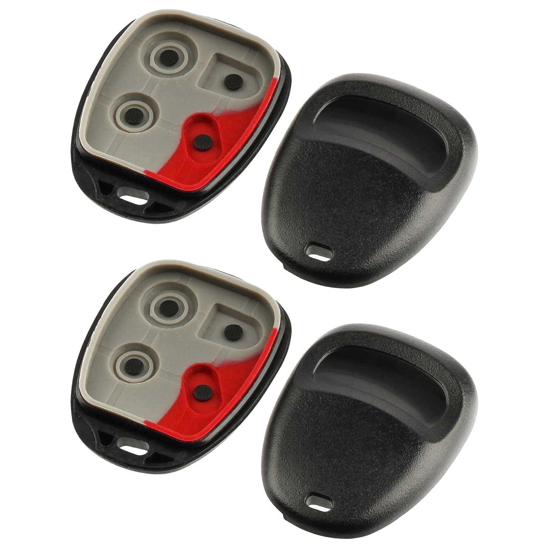 Oldsmobile Set of 2 Saturn Key Fob Keyless Entry Remote Shell Case /& Pad fits Buick GMC Cadillac Pontiac Chevy