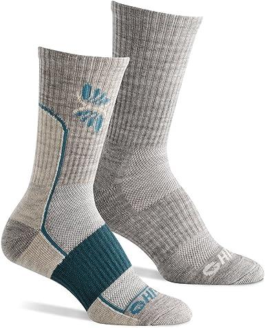 Hi-Tec Trek Midweight Womens Blue Outdoors Walking Long Sports Socks 2 Pack