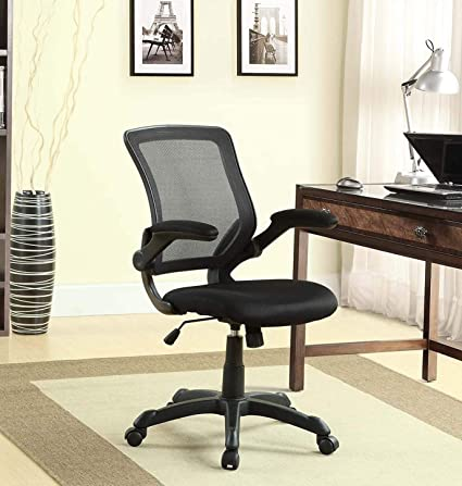 ergonomic home office adjustable height computer desk chair home office mesh back ergonomic vinyl seat flip up arms durable modern amazoncom