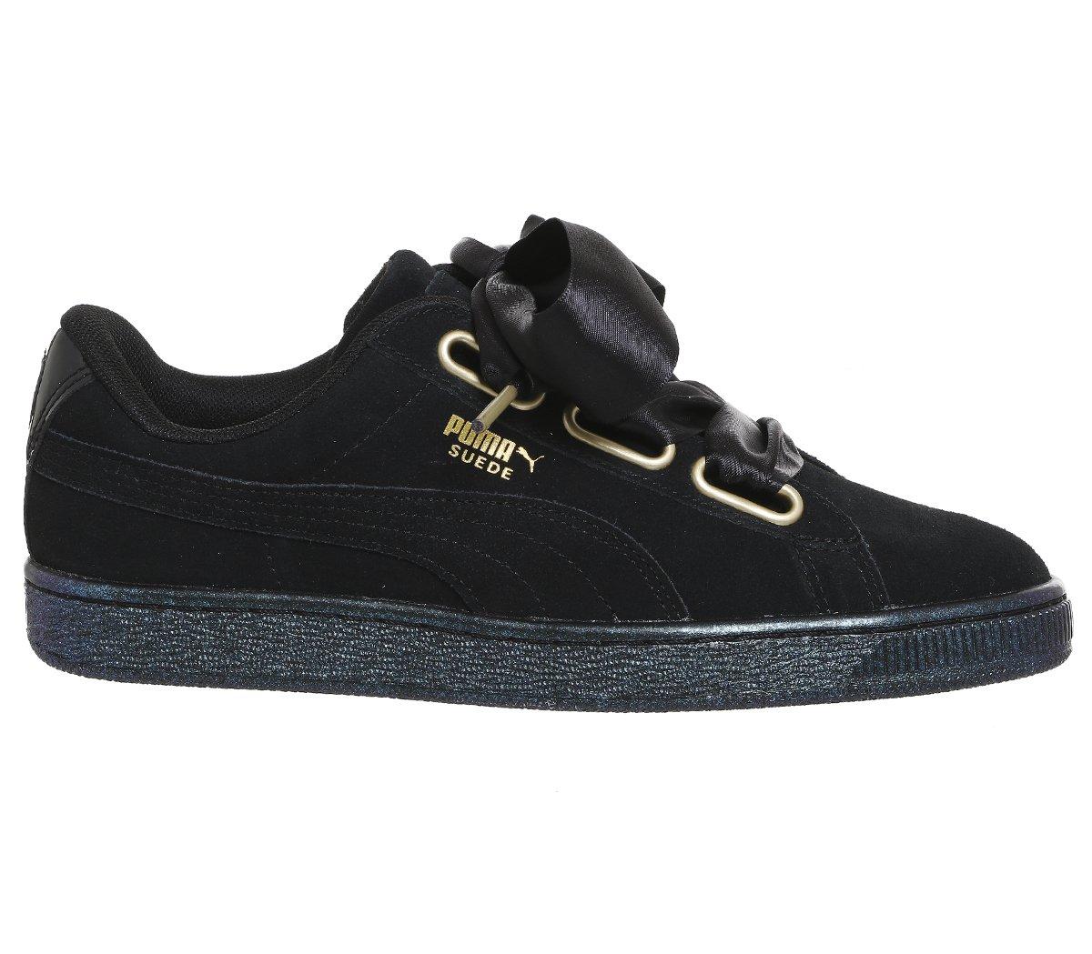 Puma Suede Heart Safari, Zapatillas para Mujer 37.5 EU|Noir