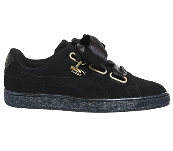 1c0622dd Puma Suede Heart Satin Womens Sneakers Black