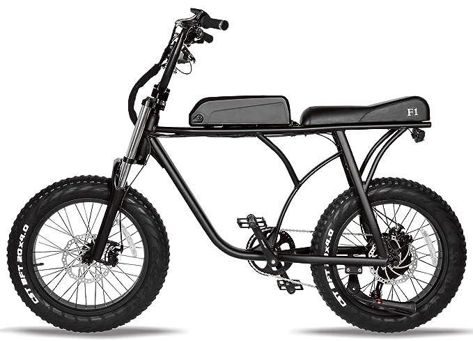 T4B SUPERFUN Electric Bike Fat TIRE - Rear Drive BAFANG 500W Motor, 48V14.5Ah Lithium Battery