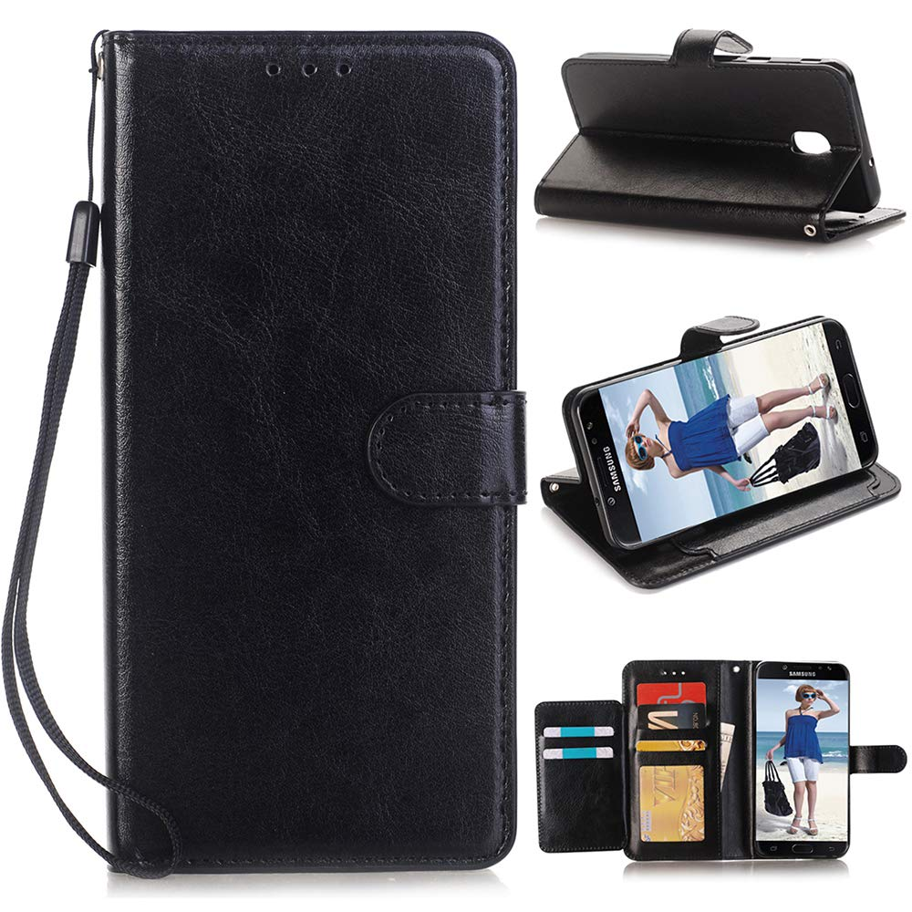 Alkax Wallet Case for Galaxy J3 2018 /J3 Achieve /J3 Star /J3 Orbit/Express Prime 3/Amp Prime 3 PU Leather Flip Cover with Card Slots Holder Stand Protective for Samsung Galaxy J3 2018 & Stylus-Black by Alkax (Image #7)