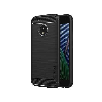 Lincivius Funda Moto G5 Plus, Fundas Moto G5 Plus Carcasa Silicona [TPU Brushed] Anti Golpes Hibrida Estuche Resistente Accesorios