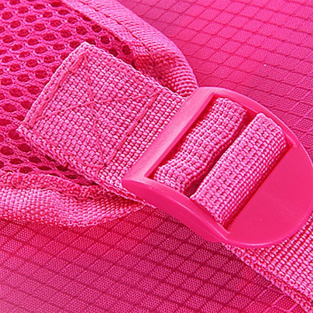 Backpack,New Backpack Wear Light Sports Outdoor Backpack Light Simple Fold Backpack Hot Pink