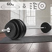 Physionics Barra de musculación de Pesas 60 kg