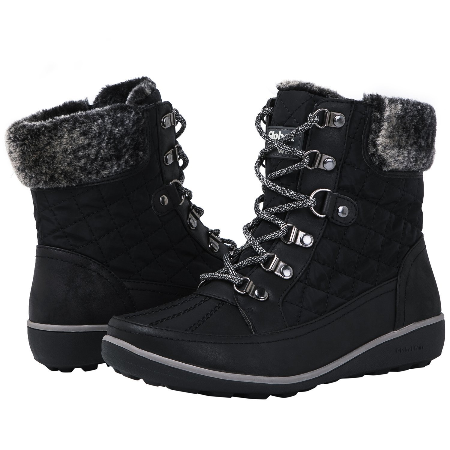 Globalwin Women's 1818 Black Snow Boots 8.5M
