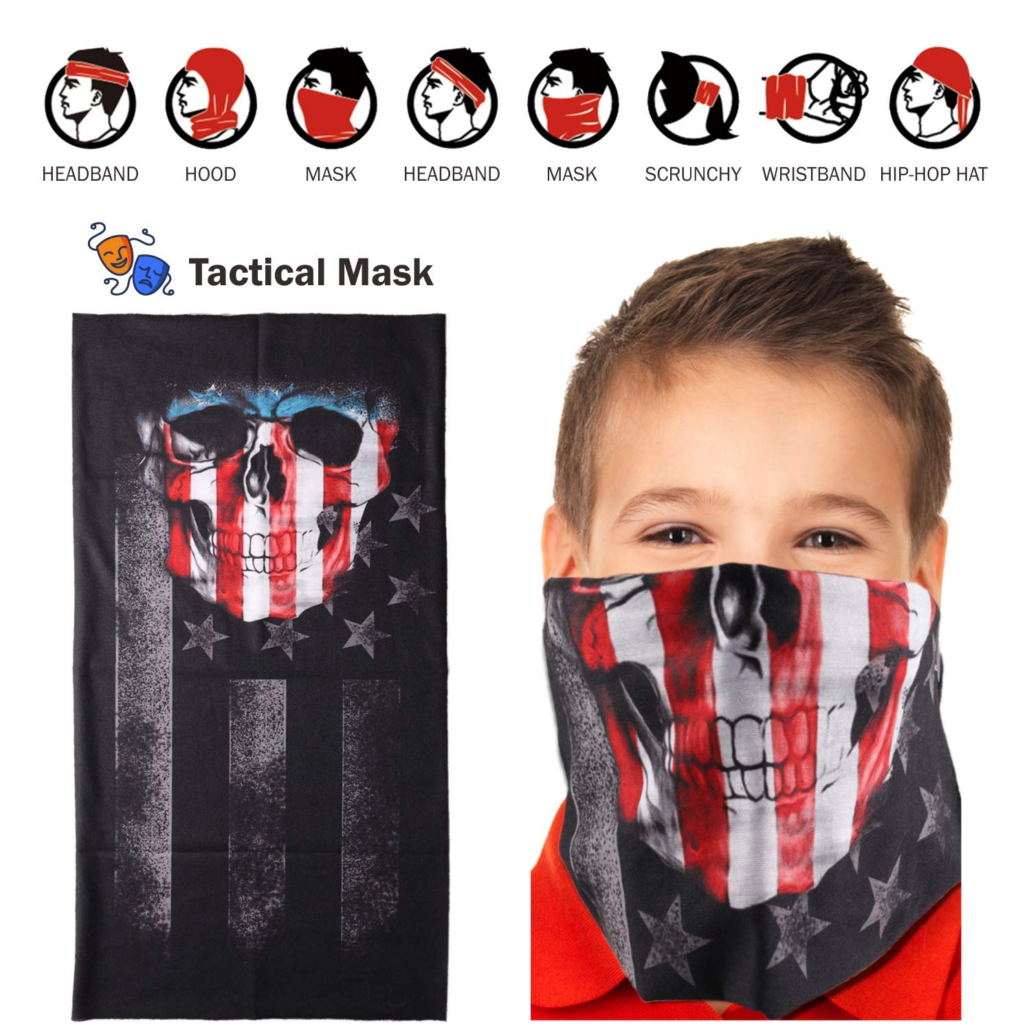 UWANTME Kids Tactical Vest Kit for Nerf Guns N-Strike Elite Series with Refill Darts, Dart Pouch, Reload Clips, Tactical Mask, Wrist Band and Protective Glasses for Boys by UWANTME (Image #6)