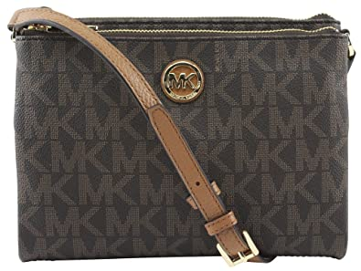 michael kors fulton crossbody bag brown amazon co uk shoes bags rh amazon co uk