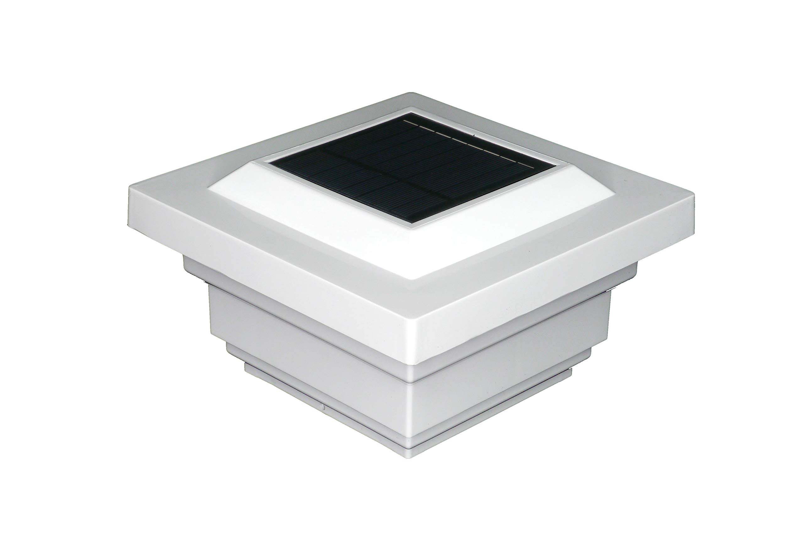 Classy Caps SL078W Regal PVC Solar Post Cap, 4'' x 4'', White by Classy Caps
