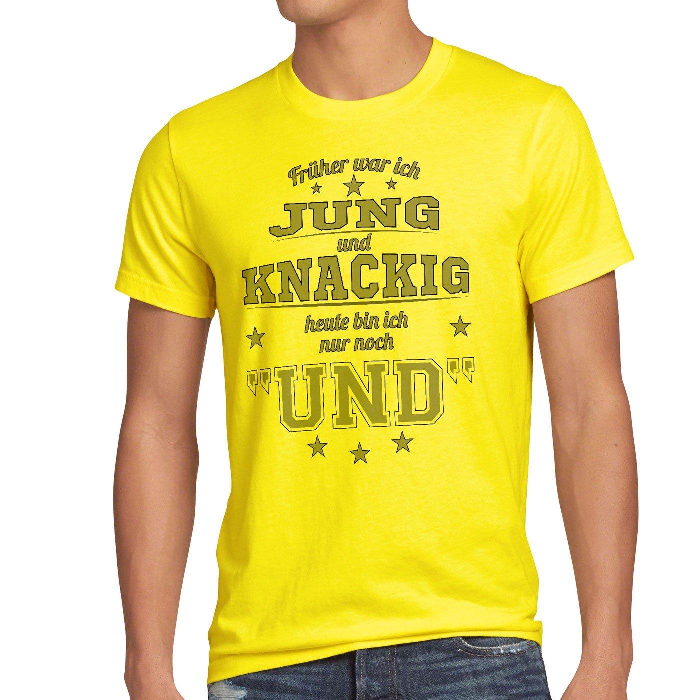 7509ea1d29 style3 Früher War Ich Jung und Knackig Heute Bin Ich Nur Noch und Herren  T-Shirt Funshirt Spruch Shirt Fun: Amazon.de: Bekleidung