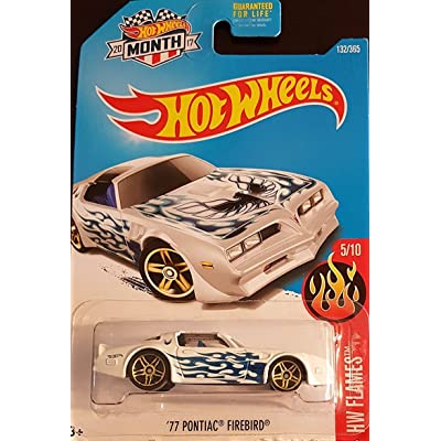 Hot Wheels 2020 HW Flames '77 Pontiac Firebird 132/365, White: Toys & Games