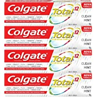 Creme Dental Colgate Total 12 Clean Mint 90g , Kit com 4 unidades