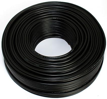 Lautsprecherkabel 2x2 50mm2 50m Schwarz Cca Elektronik
