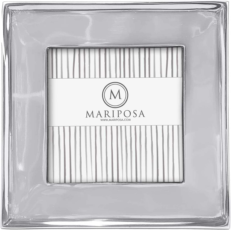 MARIPOSA Signature Picture Frame, Square 4x4, Silver