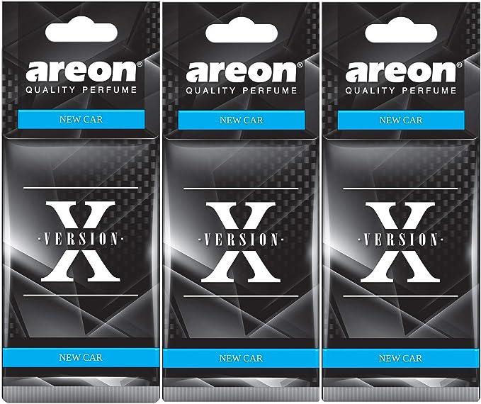 Areon X Autoduft Neuwagen New Car Auto Lufterfrischer Schwarz Aufhänger Anhänger Spiegel Pappe 2d Set Pack X 3 Auto