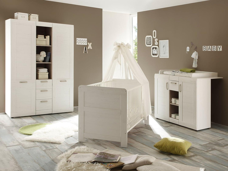 Babyzimmer Kinderzimmer Komplettset Baby Möbel Schrank Bett Kommode