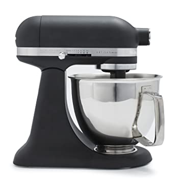 KitchenAid Artisan Mini Premium Tilt-Head Stand Mixer with Flex Edge Beater  KSM3316XBM, 3.5 qt, Matte Black