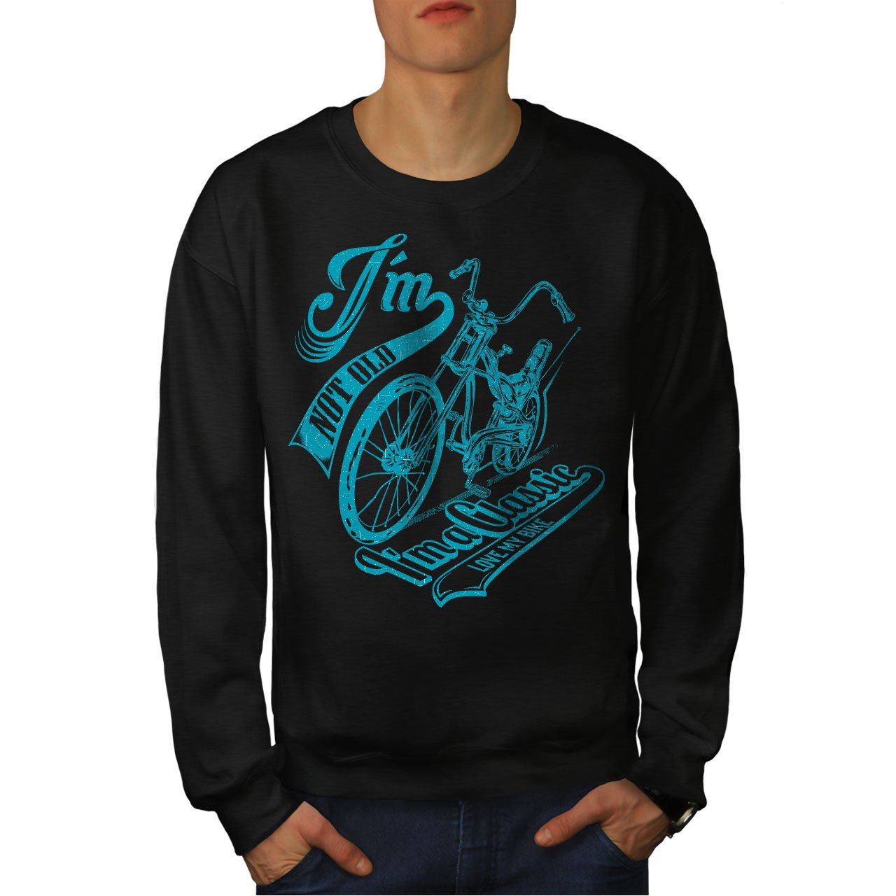 Classic Casual Jumper wellcoda Bike Motor Mens Sweatshirt