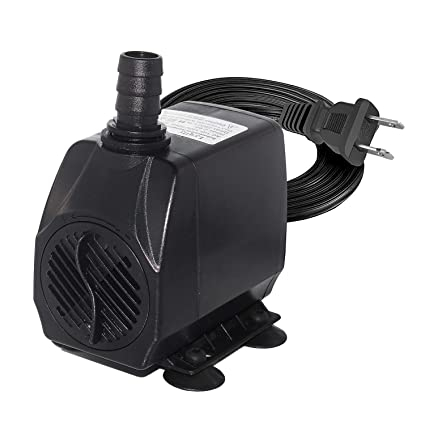 Lyqily 740GPH Water Pump Ultra Quiet 55W Submersible Fountain Aquarium Fish  Pond Hydroponic Pump with 8 5ft High Lift, 5 9ft Two-pin Plug Power Cord,