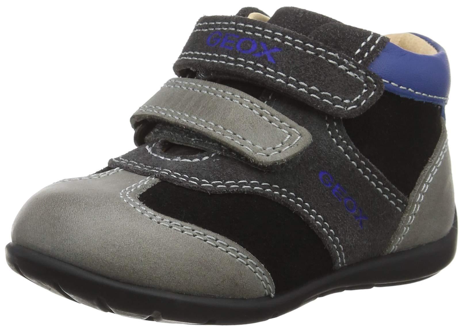 Geox Kids' Kaytan Boy 36 Leather Bootie Sneaker
