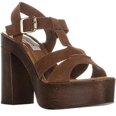b4e6918c1821 Steve Madden Women s Lucile Heeled Sandal Chestnut Suede 6 ...