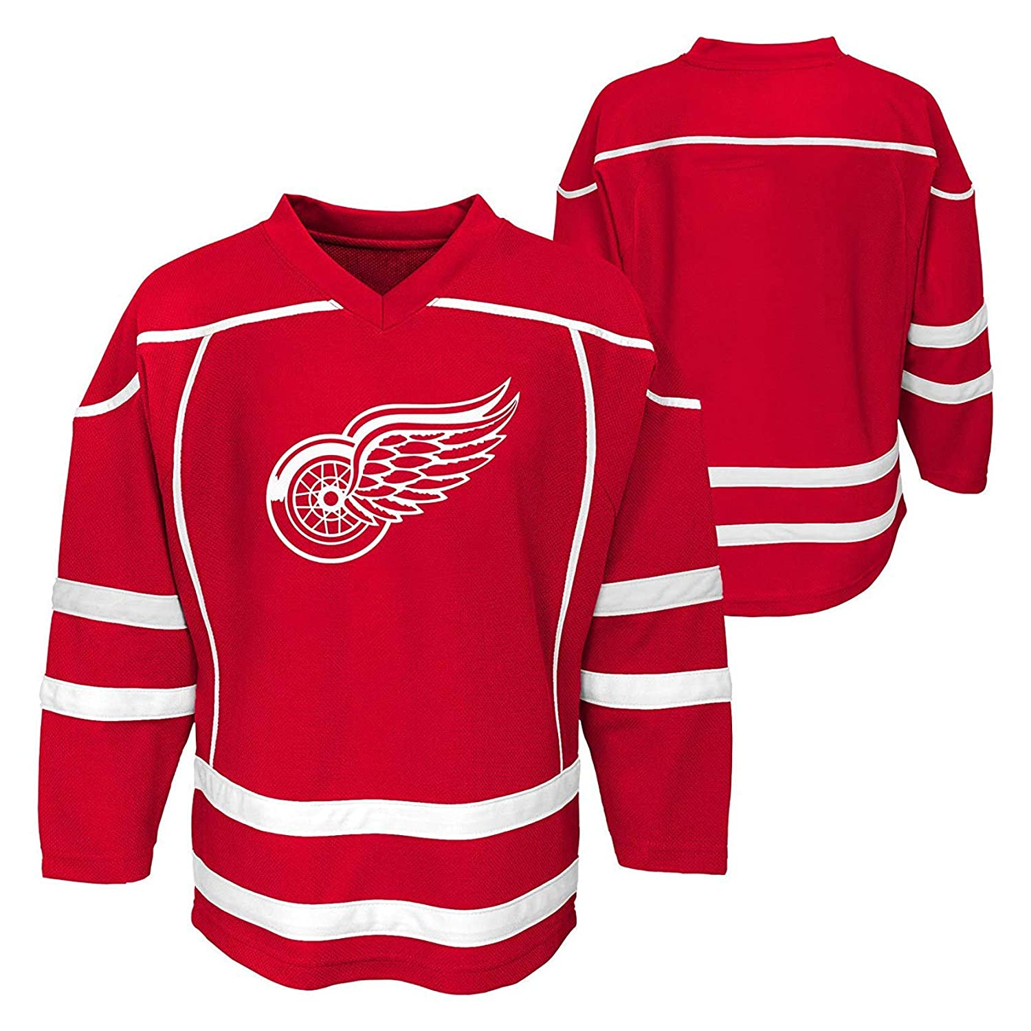 buy popular 8c034 08b5a Detroit Red Wings Blank Infants Toddler Red Player Stripe Fashion Jersey