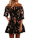 Amazon Price History for:Yuandy Women Summer Off Shoulder Strapless Floral Print Pleated Dresses