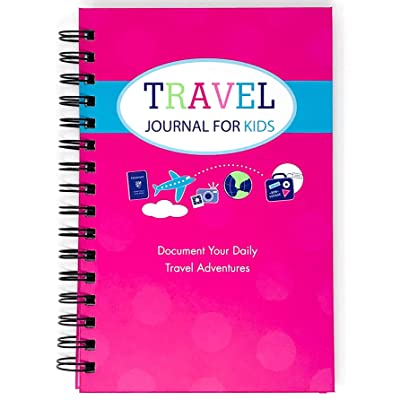 Travel Journal for Kids- Fun and Easy Way to Document Several Childhood Vacations in One Journal (Pink): Office Products