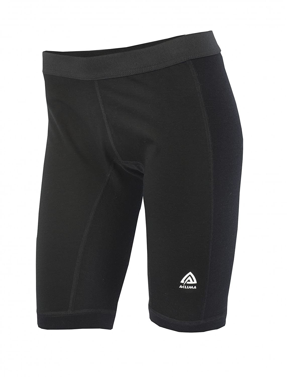 Aclima WarmWool Long Shorts Damens with Windstop Jet schwarz 2018 Unterwäsche