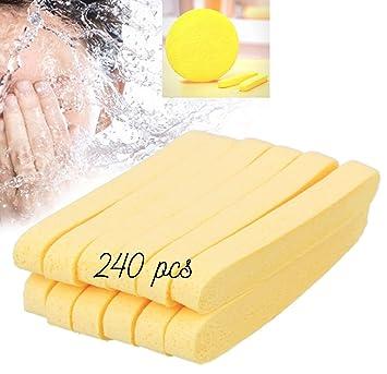 409d65558e2 Amazon.com : Huini Compressed Salon Spa Facial Cleansing Sponge Sticks,  Natural (240 Count) : Beauty