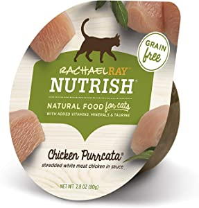Rachael Ray Nutrish Natural Wet Cat Food, Chicken Purrcata Recipe, 2.8 Ounce Cup (Pack of 12), Grain Free