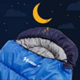 Sleeping Bag for Adults, Envelop Sleeping bags for Camping, Hiking, Outdoor, Lightweight with Compression Sack -Royal Blue