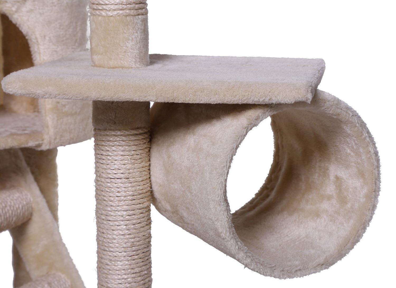 Dibea KB00401 Árbol Rascador Escalador para Gatos, 240-260 cm, Altura Ajustable del Techo Beige: Amazon.es: Productos para mascotas