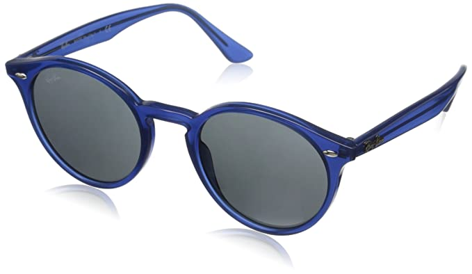 Amazon.com: Ray-Ban INJECTED MAN SUNGLASS - BLUE Frame GREY Lenses ...