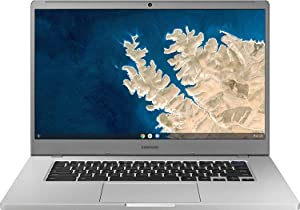 """Samsung Chromebook 4 15.6"""" FHD Laptop Computer for Business Student, Intel Celeron N4000 up to 2.6GHz, 4GB LPDDR4 RAM, 32GB eMMC, 802.11ac WiFi, Webcam, Chrome OS, iPuzzle MousePad, Online Class Ready"""