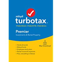TurboTax Premier + State 2019 Tax Software [Amazon Exclusive] [Mac Download]