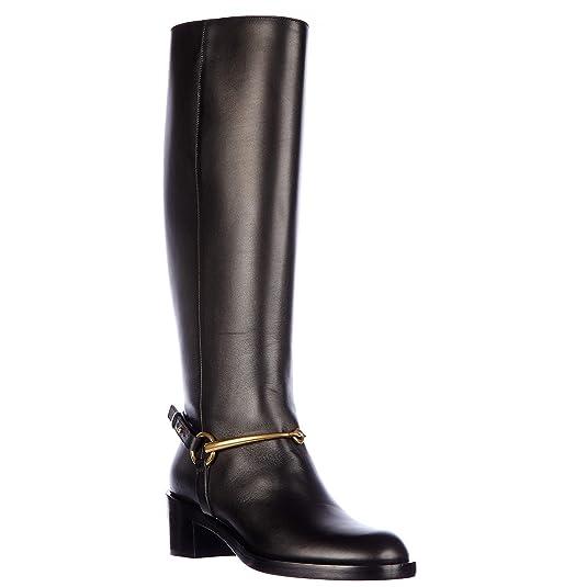 a2d3c3d938b Gucci Bottes Femme en Cuir lifford Noir EU 37 353794A3N001000  Amazon.fr   Chaussures et Sacs