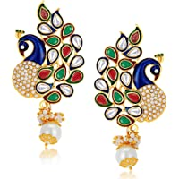 Sukkhi Gold Plated Australian Diamond Dangle & Drop Earring for Women