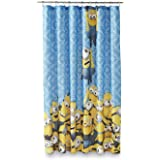 Universal Studios Minion Mayhem Microfiber Shower Curtain, 72 Inch by 72 Inch (183cm X 183cm)