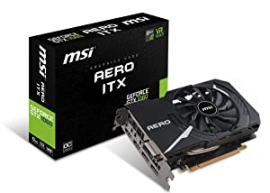 MSI GAMING GeForce GTX 1060 6GB GDRR5 192-bit HDCP Support DirectX 12 Single Fan VR Ready ITX OC Graphics Card (GTX 1060 AERO ITX 6G OC)