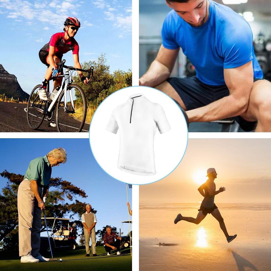 CATENA Mens Cycling Jersey Short Sleeve Shirt Running Top Moisture Wicking Workout Sports T-Shirt
