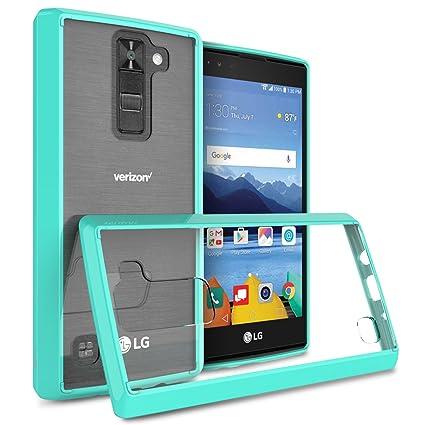 quality design 47ca4 cfb2c LG K8 V Case, LG K8V Case, CoverON [ClearGuard Series] Hard Clear Back  Cover with Flexible TPU Bumpers Slim Fit Phone Cover Case for LG K8V / K8 V  - ...