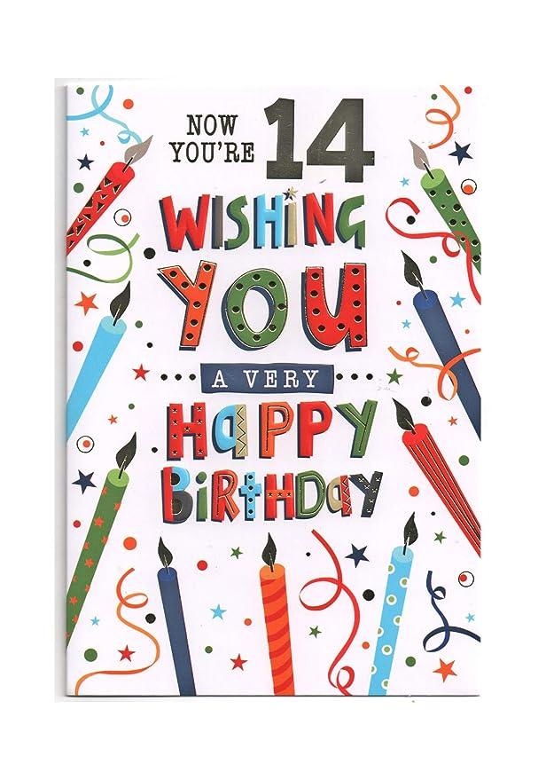 Tarjeta de cumpleaños para catorce (14 años) niño viejo ...