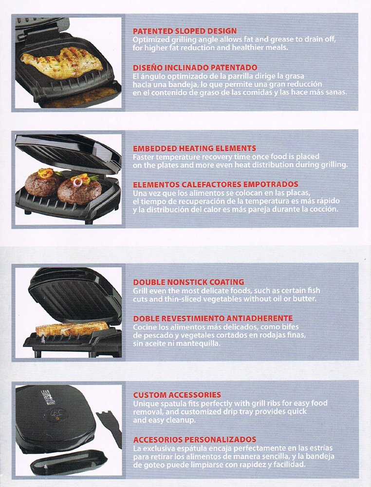 Amazon.com: Home Kitchen Countertop Portable Personal Electric Contact Champ Grill - The Lean Mean Fat Reducing Grilling Machine - Knockout the Fat, ...