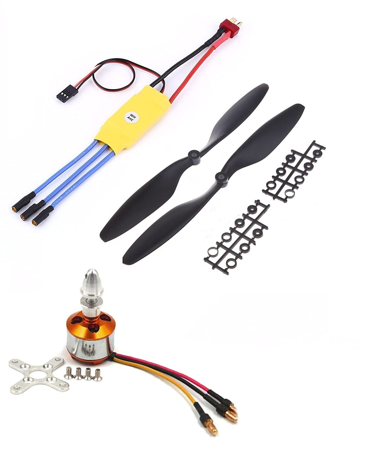 Invento F450 Quadcopter Diy Kit Kk215 Frame 2200kv Bldc Orangerx Kk2 Wiring Diagram 30a Esc 1045 Propellor Industrial Scientific