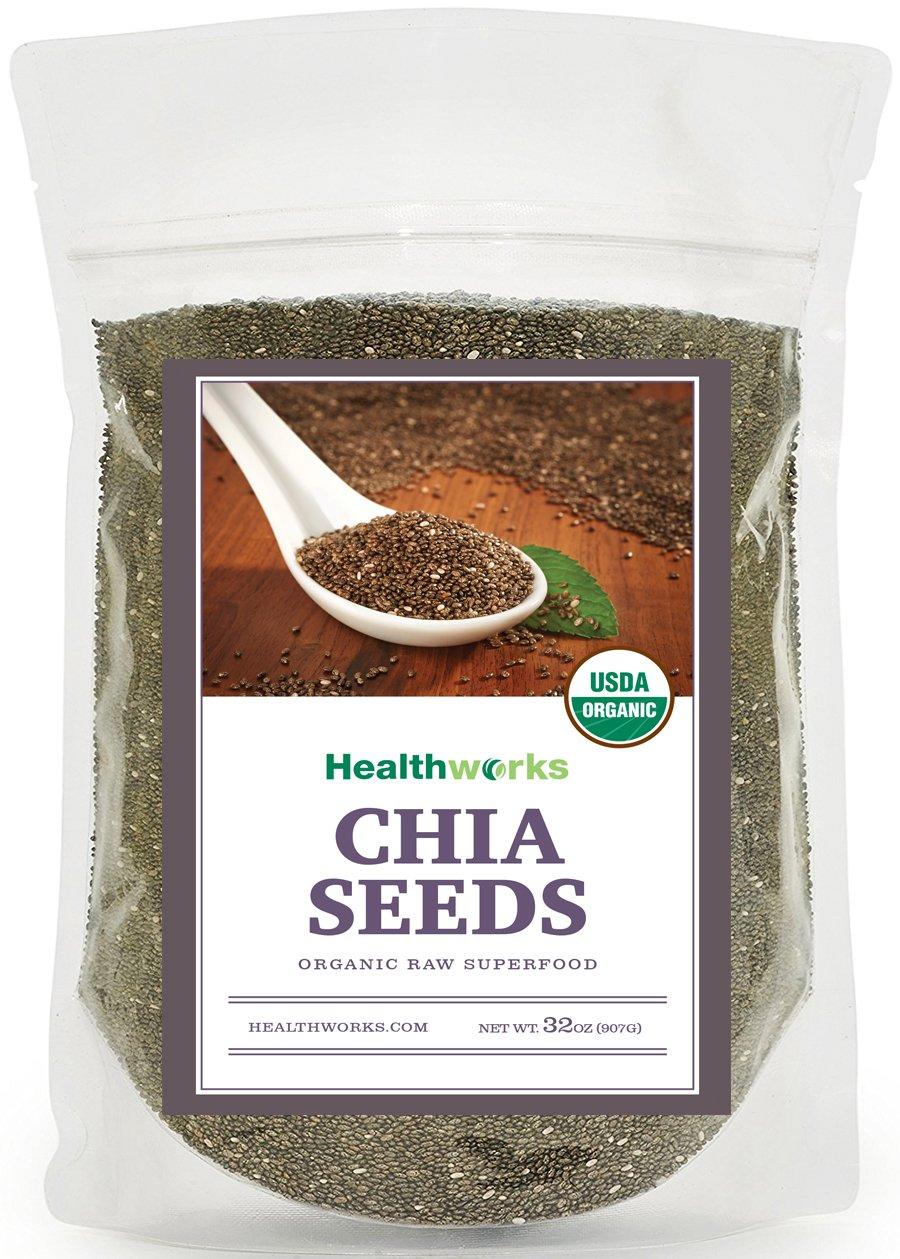 Healthworks Organic Chia Seeds Raw, 2lb