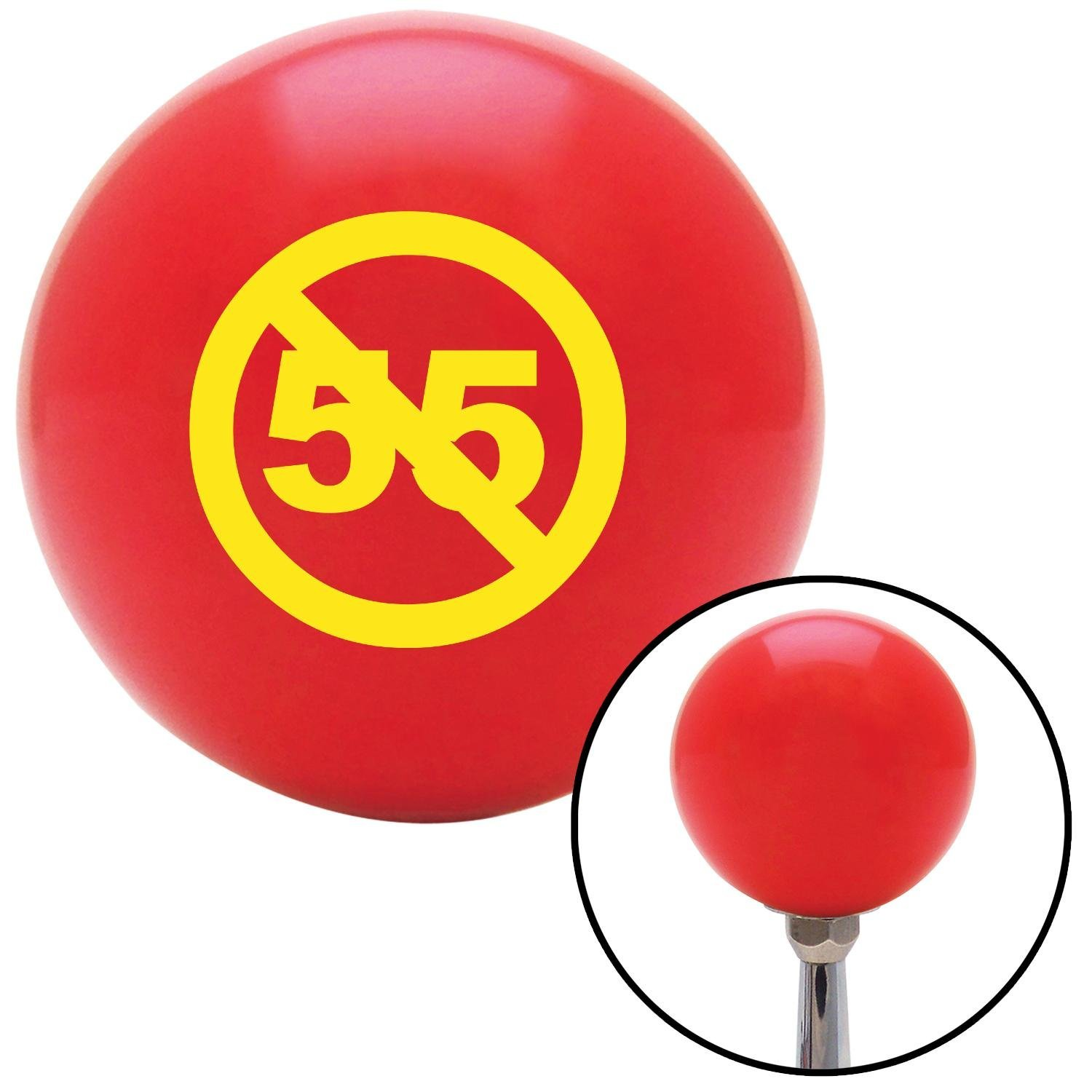 Yellow Cant Drive 55 American Shifter 101562 Red Shift Knob with M16 x 1.5 Insert